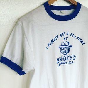 Vintage SMOKY'S Restaurant Baseball Ringer T-Shirt